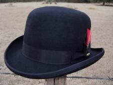 NEW Scala Black Wool BOWLER DERBY Satin Lined Tuxedo Dress Hat NWT QUALITY