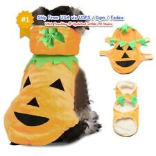 Halloween Dog Costume Style Pet Pumpkin Clothes Jacket Apparel Use Drop cats pet