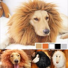 Pet Cosplay Costume Lion Mane Wig Hat for Dog Cat Halloween With Ears Party