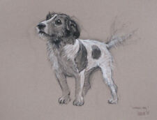 Jack Russell terrier dog art home decor LE print dog gift by H Irvine