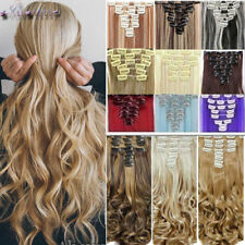 Real Thick Curly Clip in Full Head Hair Extensions Extension As Human Hair XY80