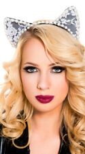 One Size Fits Most Womens Pearl Cat Ear Headband, Sexy Pearl Cat Ear Headband