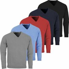 Greg Norman Mens Golf V Neck Lambswool Sweater Golf Pullover