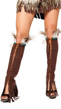 One Size Fits Most Womens Lace-up Suede Leg Warmers, Lace-up Legwarmers
