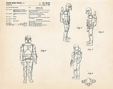 1982 Boba Fett Gift Ideas Star Wars Posters Gifts Patent Art Prints Room Decor