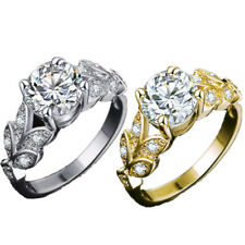 Jewelry Engagement For Women Rings 1Pcs Crystal Flower Wedding Ring Accessories