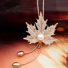 Gifts Women Long Bead Jewelry Tassel 1Pcs Necklace Pendant Necklace Maple Leaf