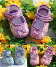 0-18M Toddler Soft Shoes Baby Crib Shoes Sole Dot PU Leather NEW Infant Flower