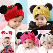 Panda Girls Boys Baby Love Beanie Hat New 1 pcs Cap Wool Crochet Hot knit Cute