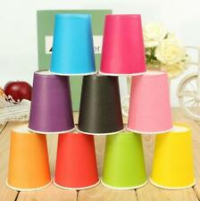 Catering 9oz Paper Cups Tableware Plain Birthday Party 20 Pcs Solid Colours