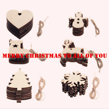 5/10Pcs Wooden Star Hanging Christmas Tree Blank Decorations Gift Tag Ornaments