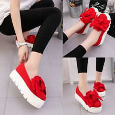 1 Pair womens flats Fashion creepers shoes Bow lady flats loafers