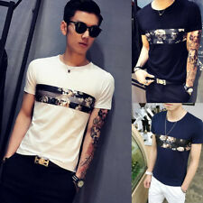 Men's Short Sleeve T-Shirt 1Pcs Fashion Round neck Popular