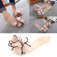 1 Pair Sweet Flowers Lady Jelly Shoes Bow sandals crystal shoes