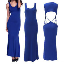 Dresses Evening Sleeveless Halter Women's Sexy Section Trailing Long Fishtail