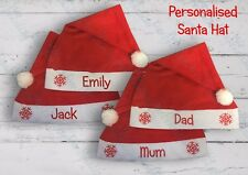 Personalised Santa Hat Christmas Hat with your own Name one size Keep sake