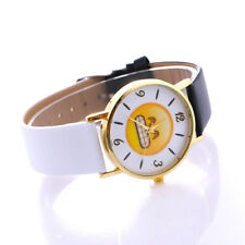 Fashion Woman Quartz Wrist Watch Leather Smiling Face Lovers 1 Pcs Watch