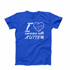 I Love Someone With Autism T Shirt Child Lover Autism Awareness Graphic Tee