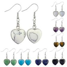 New Exquisite Heart Shaped Turquoise Drop Dangle Fish Hook Earrings Colorful