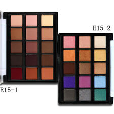 15Colors Matte Shimmer Eyeshadow Palette + Brush for Smokey Daily Eye Makeup