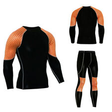 Men's sportswear Compression Shirt Pants Set Long Sleeves Leggings Sport Suit