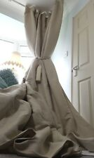 NEW Quality 100%Irish Linen Natural Blackout Thermal Lined Heavy Huge Curtains