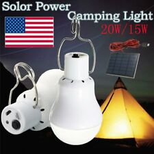 20W Portable Solar Powered LED Rechargeable Bulb Light Outdoor Camping Yard Lamp