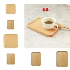 6 Type Beech Chic Wooden Tea Serving Fruit Trinket Storage Tray Square Plate