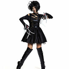 Ladies Adult Miss Edward Scissorhands Halloween Fancy Dress Costume Outfit