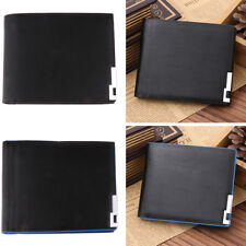 Mens Thin Wallet PU Leather Bifold Wallet Credit Cash Cards Holder