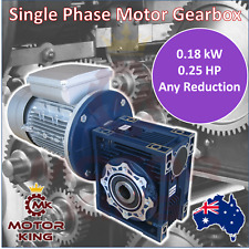 0.18kW 0.25HP Single Phase Motor Gearbox Drive 140 93 70 56 46 35 23 17 rpm 240V
