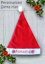 Personalised Santa Hat Child Hat Christmas Hat With Your own Name logo