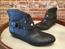 Libby Edelman Henson Gray Studded Removable Harness Ankle Boot New