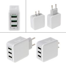 3-Ports USB Fast Charge 5V/3.1A Travel Wall AC Power Adapter Charger US/EU Plug