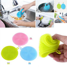 Silicone Scrubber Bowl Brush Dishwashing Sponge Antibacterial Home Cleaner Tools