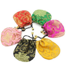 Silk Jewelry Drawstring 1 Pcs Drawstring Pouch Bags Ethnic Style Embroidery