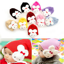 Baby Rabbit Hats Toddler Kids Winter Ear Flap Warm Hat Beanie Cap Crochet SU