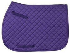 EquiRoyal Quilted Square English All Purpose English Saddle Pad Cotton