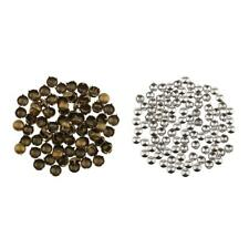 100Pcs DIY Round Dome Studs Rivet Spike Spots Punk Rock Hat Bag Leathercraft