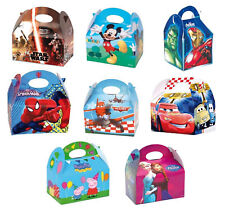 Character Party FOOD BOXES Children Kids Birthday Loot Favour Disney/Marvel Loot