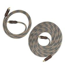 Digital Optical Audio Cable 3.3/9.8ft Toslink Cable for CD DVD TV 24K Gold Z0J7