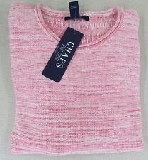 CHAPS By RALPH LAUREN Women's Marled Linen Blend Sweater Red Coral L XL NEW NWT