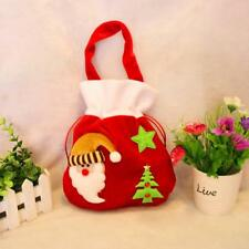 Red Flannelette Candy Gift Bags Christmas Hanging Décor Ornaments
