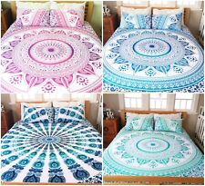 Indian Duvet/Doona/Bed/Quilt Cover King Size Cotton Mandala Bohemian Bedding Set