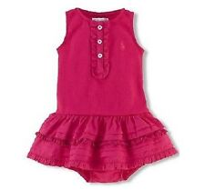 Ralph Lauren Baby Girls Knit Jersey Dress