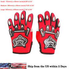 RED YOUTH KIDS ATV MOTOCROSS MOTORCYCLE OFF-ROAD MX DIRT BIKE GLOVES