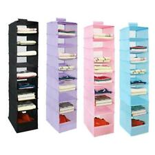 Oxford Hanging Organizer Towel And Clothes Storage For Closet Toy Bag 9 Shelves