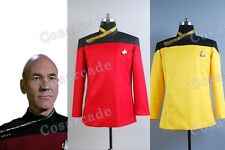 Star Trek TNG Cosplay Costume Jean-Luc Picard Jacket Outfit+2C Uniform