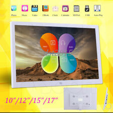 "10/12/15/17""inch HD LED Digital Photo Picture Frame Clock/Music/Video/Player"
