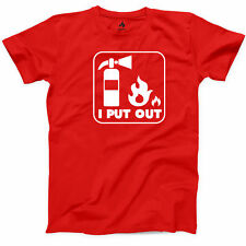 I Put Out Fire T Shirt Firefighter Funny Fire Department Local Hero Men s Tee